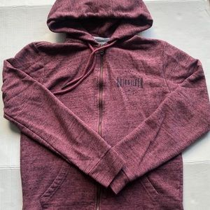 Quiksilver Everyday Zip-up Burgundy Hoodie Jacket